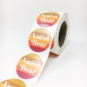 Printed labels on a roll