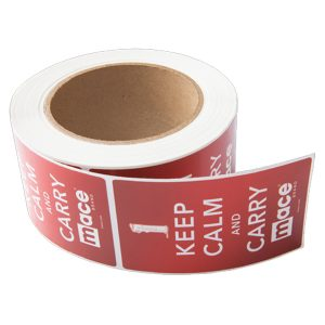 Rectangle Foil Stickers – Roll Labels