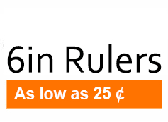 6in Rulers