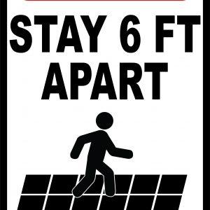 Social Distancing Floor Signs Rectangle Covid 19 Floor Sticker